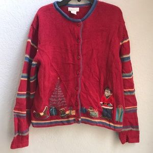 Vintage Cowboy 🤠 🎅 Christmas Cardigan Sweater
